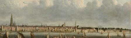 Saint Michael's Bastion as featured in the painting 'View of the port of Antwerp from Vlaams Hoofd'