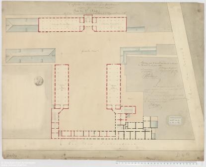 Map of the first floor of Prekerskazerne Barracks