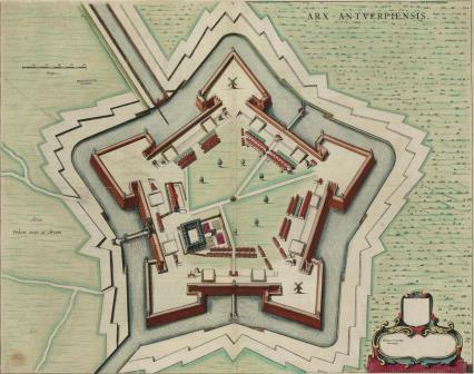 Map of the citadel, sixteenth century