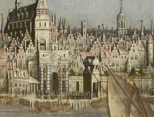 The wharf in a seventeenth-century painting (Bonnecroy)