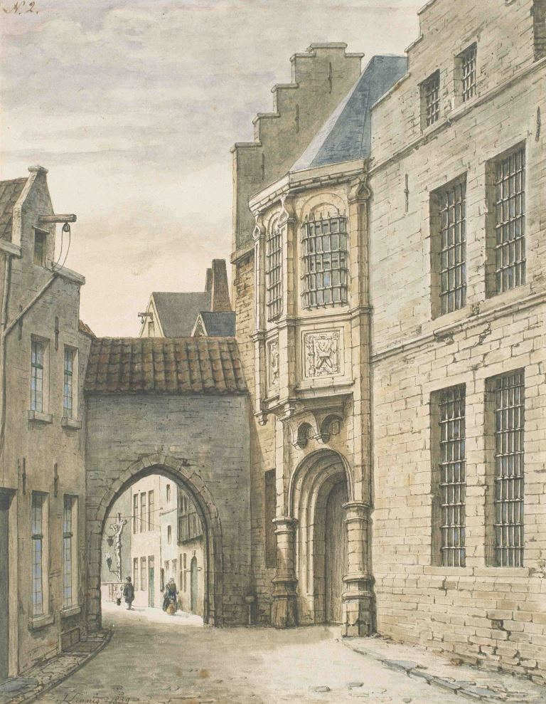 "Watercolour ""Steen Castle"" (J. Linnig)"