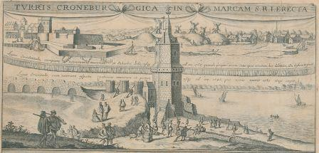 Kronenburg Tower in the sixteenth century