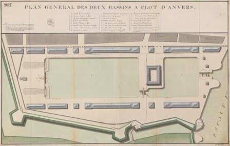 Plan of Bonaparte Dock and Willem Dock