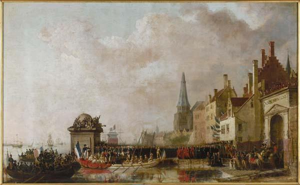 """""""Entry of Napoleon in Antwerp"""" (Van Bree)"""