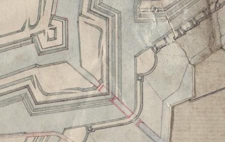 Noordelijk deel omwalling met Schijnsluis