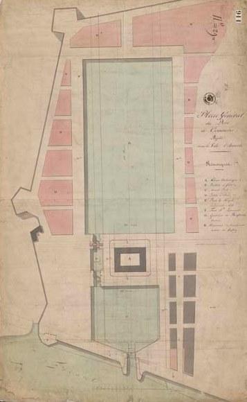 Plan van het Bonapartedok en het Willemdok