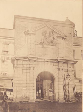 Waterpoort Gate in its original location, as seen from the Scheldt