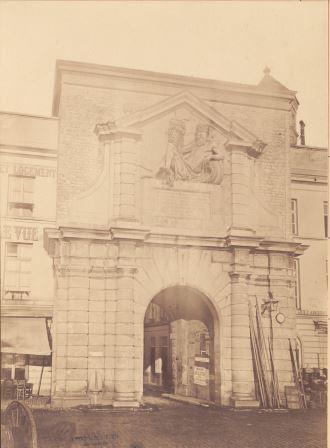 Waterpoort Gate in its original location, as seen from the Scheldt