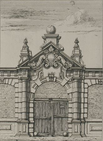The gate to Saint Michael's Abbey by J. Linnig