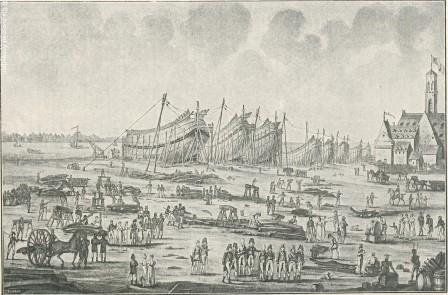 View of the shipyards at Antwerp