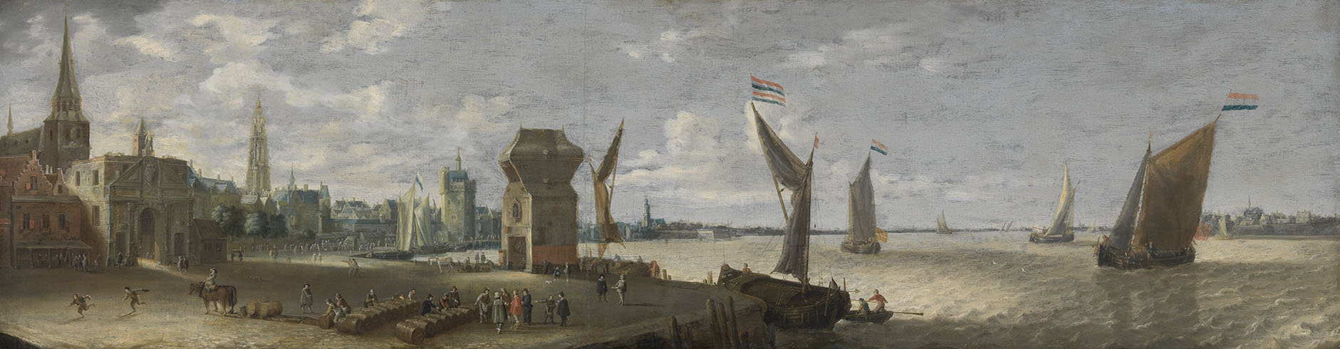 The wharf in a seventeenth-century painting (B. Peeters)