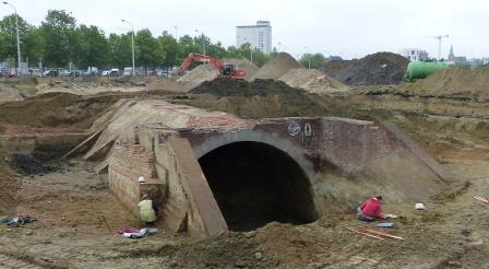 Excavation of the lock on the Schijn River in 2015