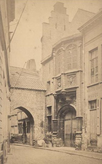 """Photo """"Anvers, Steen Prison"""", before 1882"""