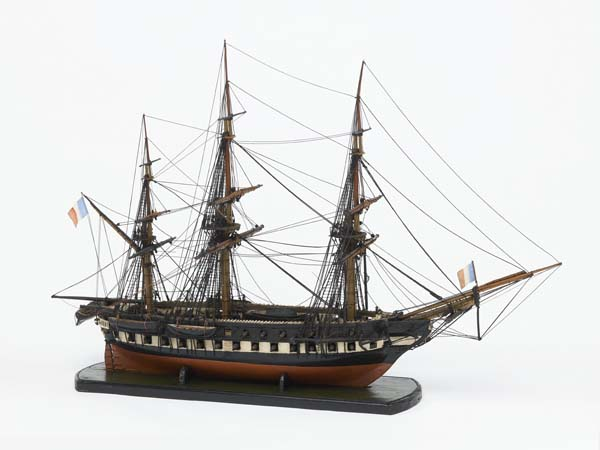Ship model of a French war frigate