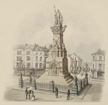 Drawing of the monument in the city's commemorative book
