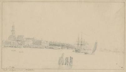 The shipyards and Saint Michael's Abbey in 1814
