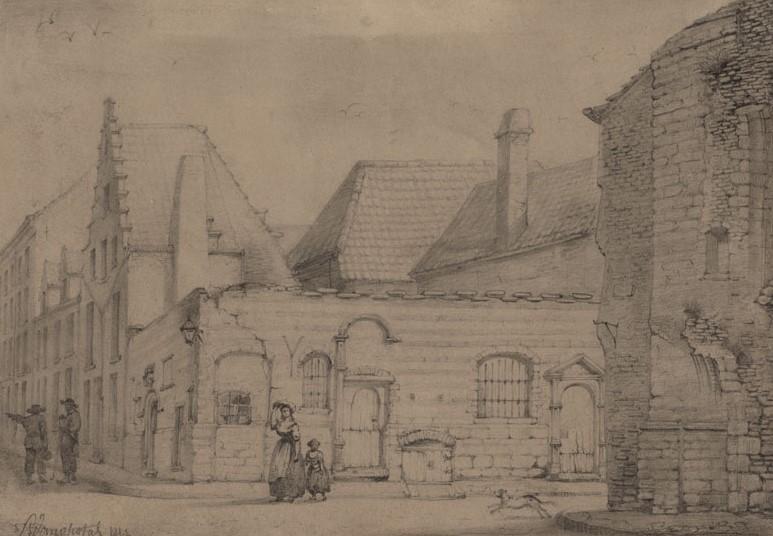 Drawing of the Vierschaar (L. Van Opstal)