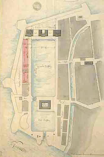 Plan of the Antwerp trading docks, 1815