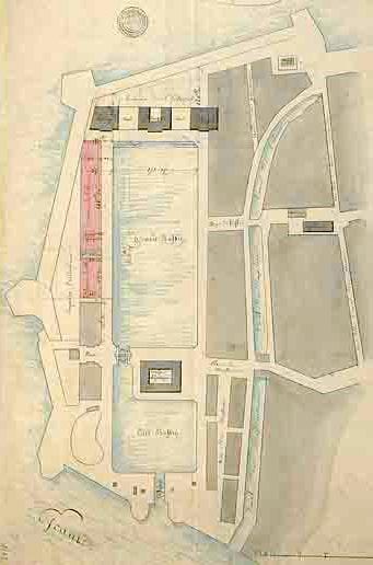 Plan of the Antwerp trading docks, 1815