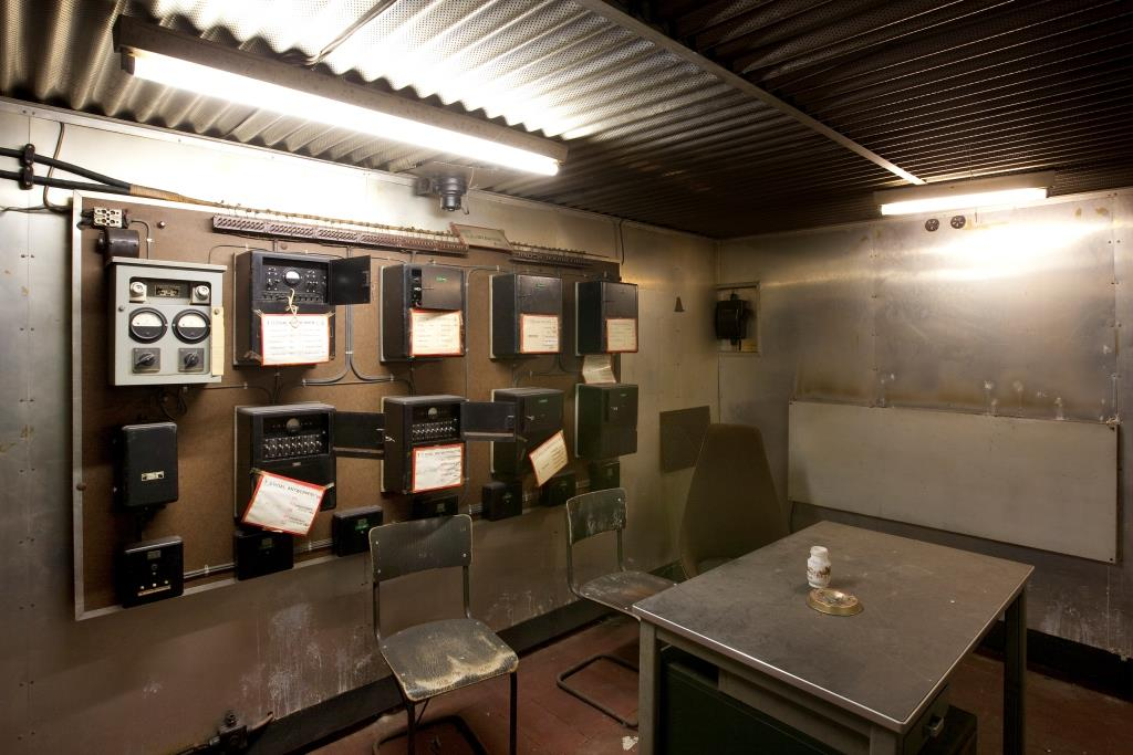 The alarm centre in the command bunker