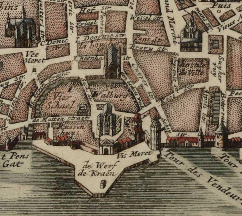 Plan of the nineteenth-century wharf