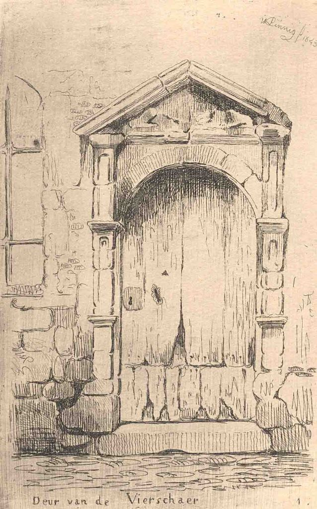 Drawing of the Gate of the Vierschaar (W. Linnig)