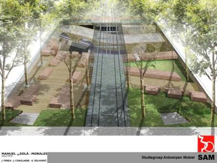 The design for the Kipdorp site (studio de Solà-Morales)