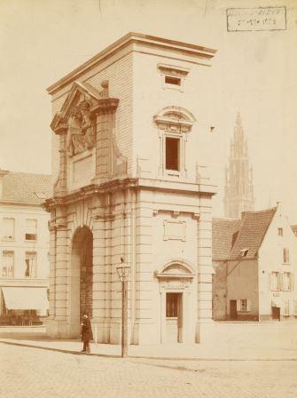 Waterpoort Gate in its second location in Sint-Jansvliet