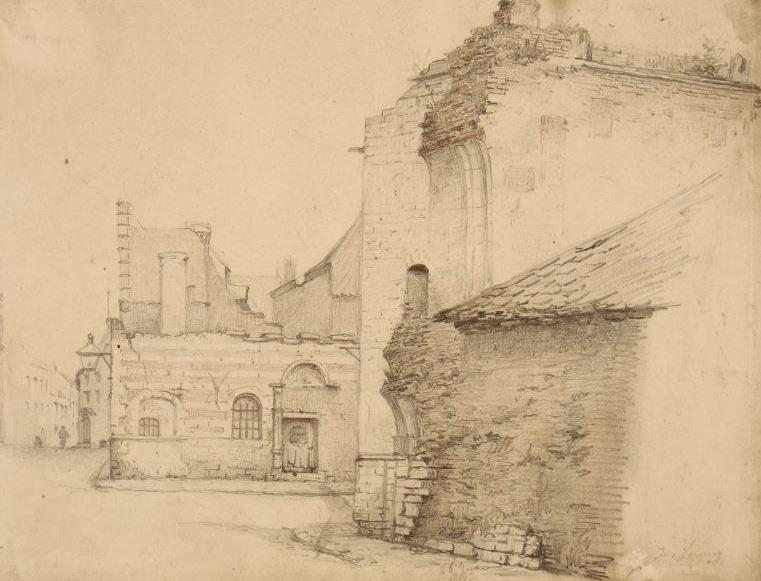 Drawing of the Vierschaar (J. Linnig)