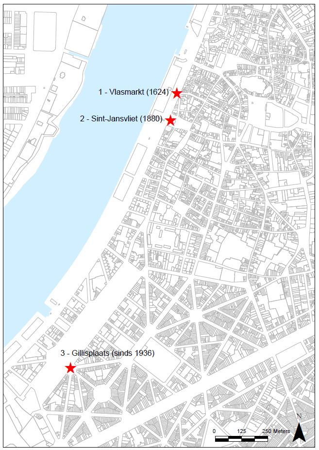 The various locations of Waterpoort Gate