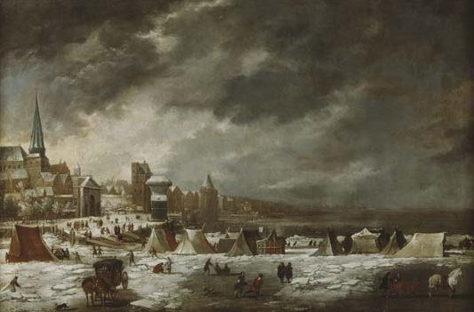 """Navigation under icy conditions on the Scheldt' (B. Peeters), seventeenth century"