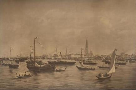 Inauguration of the new Scheldt quays in 1885