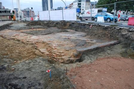 Excavation of the Bastion of Slijkpoort in 2012