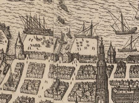 """Bierhoofd"" wharf in the sixteenth century"