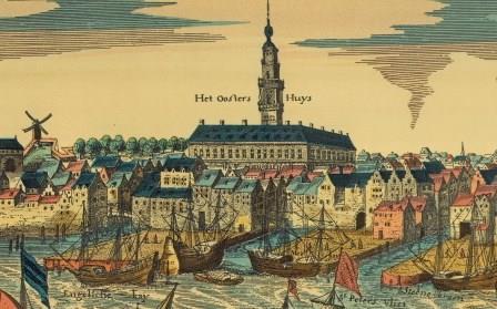 Brouwersvliet and Hanseatic House around 1600