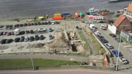 Excavations in 2015 near the southern quay of Brouwersvliet