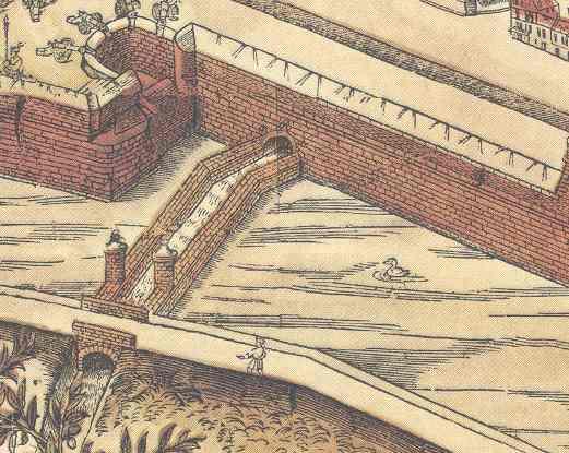 Herentalse Vaart op kaart Virgilius Bononiensis