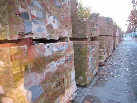 Temporary storage of the bastion blocks