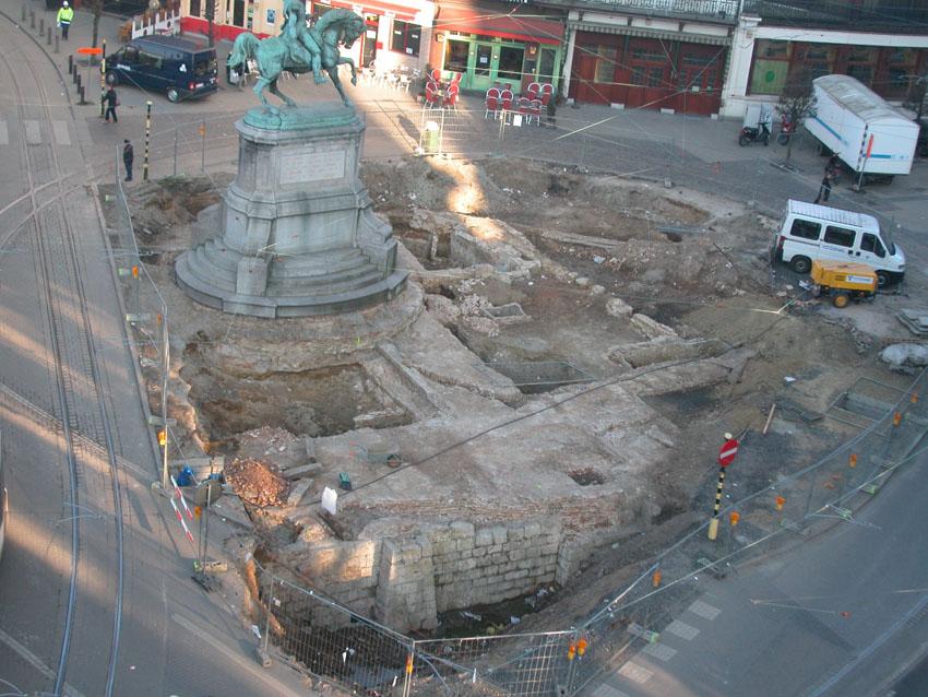 Opgraving Keizerspoort in 2002
