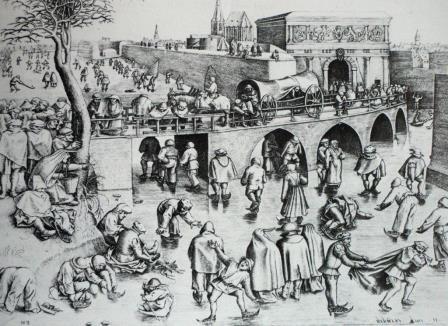 'Schaatsen op de vesten' naar Breughel