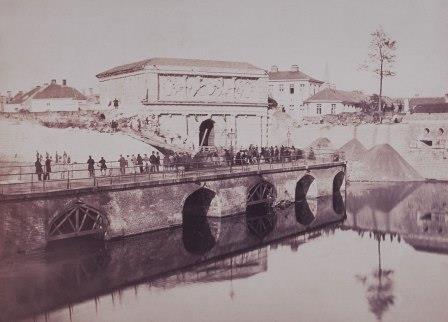 Start afbraak Spaanse omwalling 1864-1865