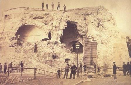 Afbraak Keizerspoort in 1865-1866