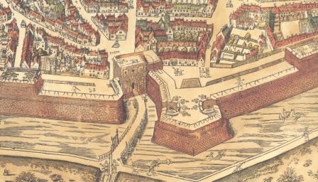 Kipdorppoort op kaart Virgilius Bononiensis
