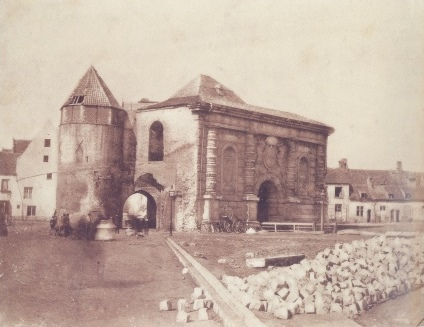 Kipdorppoort Gate after the demolition of the city wall