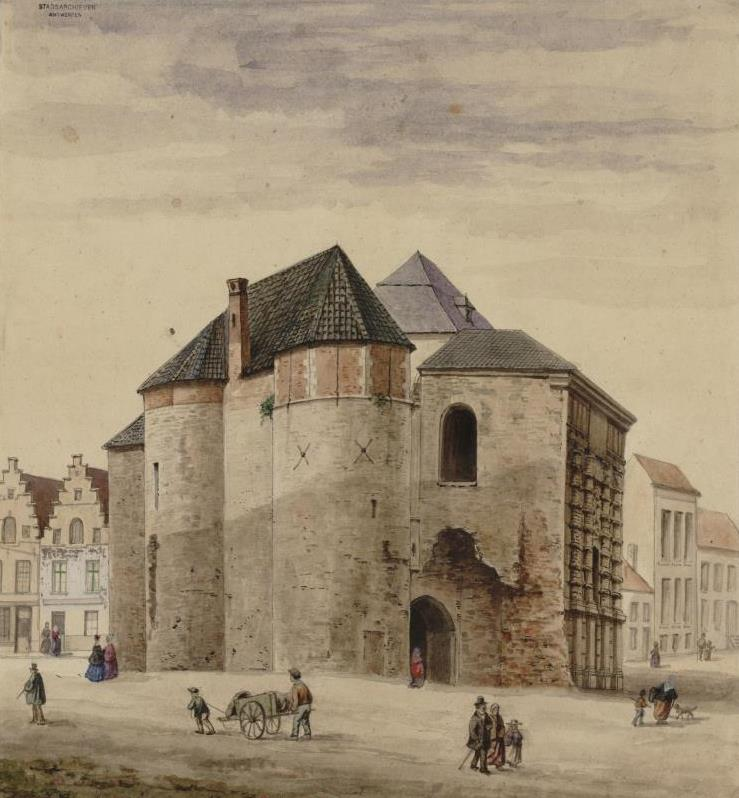 Kipdorppoort Gate after the demolition of the city wall (J. Linnig)