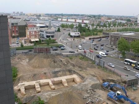 Aerial photo of the excavation near Noorderplaats in 2003