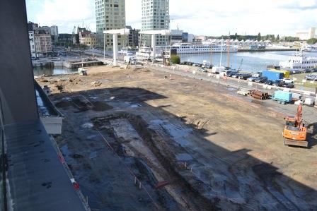 Aerial photo of the excavation in Londenstraat in 2012