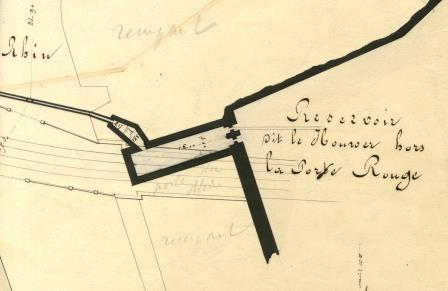 Map of the Brewer's cellar in 1859