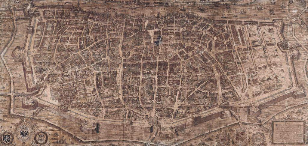 De kaart van Virgilius Bononiensis uit 1565