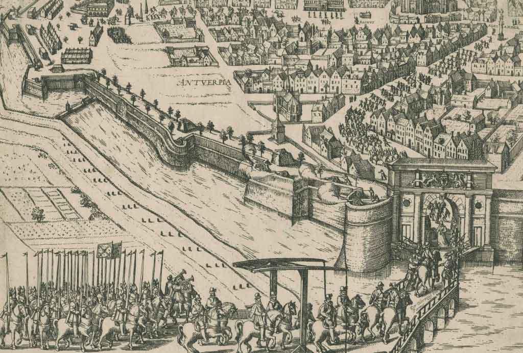 Intrede van Farnèse,  Hertog van Parma in 1585